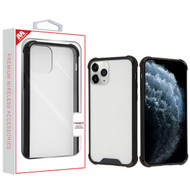 MyBat Sturdy Gummy Cover for Apple iPhone 11 Pro - Highly Transparent Clear / Natural Black
