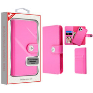 MyBat Detachable Magnetic 2 - in - 1 MyJacket Wallet (TPU Case + Leather Folio) for Apple iPhone 11 Pro - Hot Pink