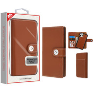 MyBat Detachable Magnetic 2 - in - 1 MyJacket Wallet (TPU Case + Leather Folio) for Apple iPhone 11 Pro - Brown