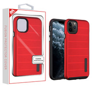 MyBat Fusion Protector Cover for Apple iPhone 11 Pro - Red Dots Textured / Black