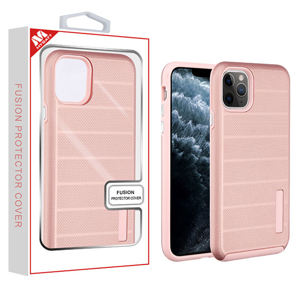 MyBat Fusion Protector Cover for Apple iPhone 11 Pro - Rose Gold Dots Textured / Rose Gold