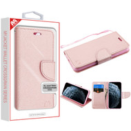 MyBat Liner MyJacket Wallet Crossgrain Series for Apple iPhone 11 Pro - Rose Gold Pattern / Rose Gold