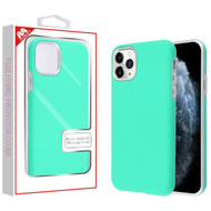MyBat Fuse Hybrid Protector Cover for Apple iPhone 11 Pro - Rubberized Teal Green / Metallic Silver