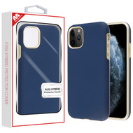MyBat Fuse Hybrid Protector Cover for Apple iPhone 11 Pro - Rubberized Ink Blue / Metallic Gold