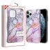 MyBat Fuse Hybrid Protector Cover for Apple iPhone 11 Pro - Purple Marbling / Iron Gray
