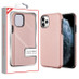 MyBat Fuse Hybrid Protector Cover for Apple iPhone 11 Pro - Rose Gold Carbon Fiber Texture / Black