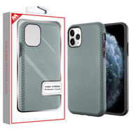 MyBat Fuse Hybrid Protector Cover for Apple iPhone 11 Pro - Dark Gray Carbon Fiber Texture / Black