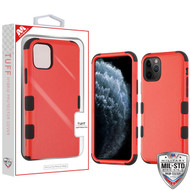 MyBat TUFF Hybrid Protector Cover [Military-Grade Certified] for Apple iPhone 11 Pro - Natural Red / Black