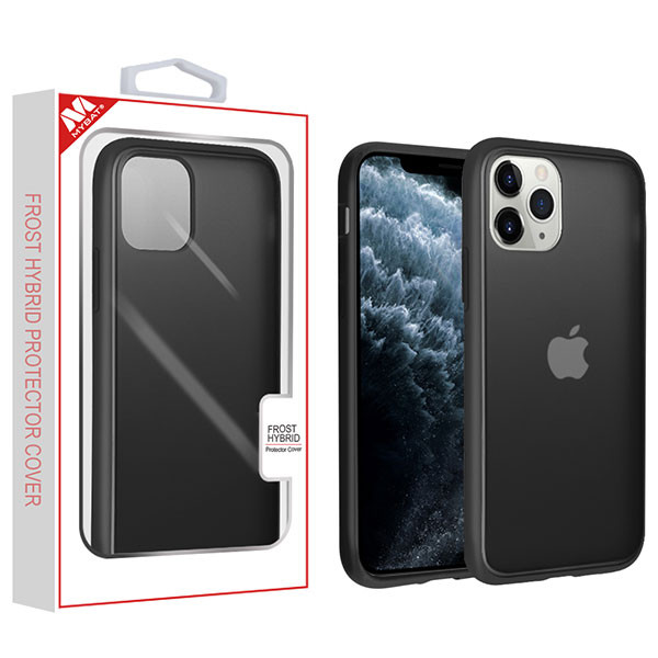 MyBat Frost Hybrid Protector Cover for Apple iPhone 11 Pro - Semi Transparent Smoke Frosted / Rubberized Black