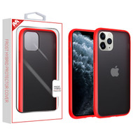 MyBat Frost Hybrid Protector Cover for Apple iPhone 11 Pro - Semi Transparent Smoke Frosted / Rubberized Red