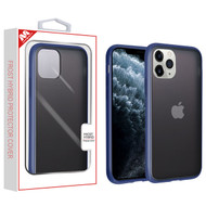 MyBat Frost Hybrid Protector Cover for Apple iPhone 11 Pro - Semi Transparent Smoke Frosted / Rubberized Ink Blue