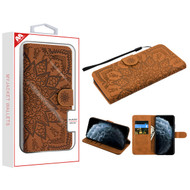 MyBat 3D Mandala MyJacket Wallet for Apple iPhone 11 Pro - Brown