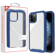 MyBat Splash Hybrid Case for Apple iPhone 11 Pro - Highly Transparent Clear / Blue