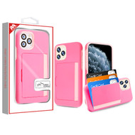 MyBat Poket Hybrid Protector Cover (with Back Film) for Apple iPhone 11 Pro - Pink / Soft Pink