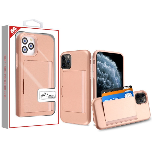 MyBat Poket Hybrid Protector Cover (with Back Film) for Apple iPhone 11 Pro - Rose Gold / Rose Gold