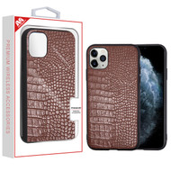 MyBat Crocodile Skin Executive Protector Cover for Apple iPhone 11 Pro - Brown