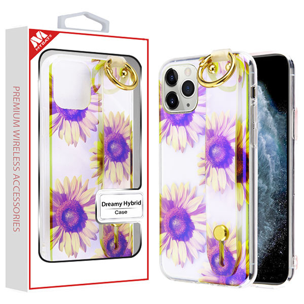 MyBat Dreamy Hybrid Case (With Wristband Stand) for Apple iPhone 11 Pro - Sunflower