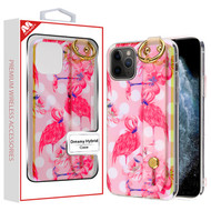 MyBat Dreamy Hybrid Case (With Wristband Stand) for Apple iPhone 11 Pro - Pink Flamingos