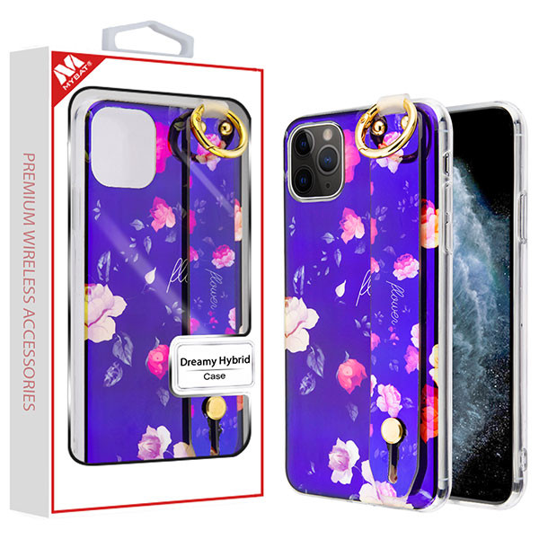 MyBat Dreamy Hybrid Case (With Wristband Stand) for Apple iPhone 11 Pro - Inflorescence