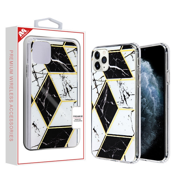 MyBat Fusion Protector Cover for Apple iPhone 11 Pro - Electroplated Black Marbling