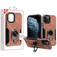MyBat Hybrid Protector Cover (with Ring Holder Kickstand Bottle) for Apple iPhone 11 Pro - Rose Gold / Black