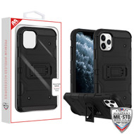 MyBat Storm Tank Hybrid Protector Cover [Military-Grade Certified] for Apple iPhone 11 Pro - Black / Black
