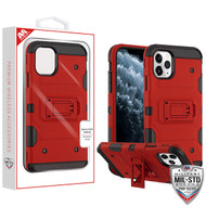MyBat Storm Tank Hybrid Protector Cover [Military-Grade Certified] for Apple iPhone 11 Pro - Red / Black