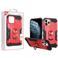 MyBat Hybrid Protector Cover (with Ring Stand) for Apple iPhone 11 Pro - Red / Black