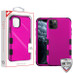 MyBat TUFF Hybrid Protector Cover [Military-Grade Certified] for Apple iPhone 11 Pro - Titanium Solid Hot Pink / Black