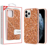 MyBat Encrusted Rhinestones Hybrid Case for Apple iPhone 11 Pro - Electroplated Rose Gold / Rose Gold