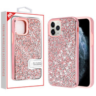 MyBat Encrusted Rhinestones Hybrid Case for Apple iPhone 11 Pro - Electroplated Pink / Pink