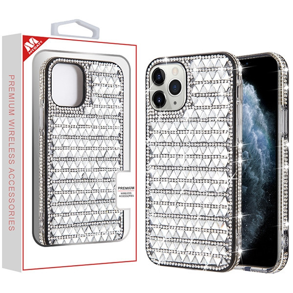 MyBat Crystals Sparks Case for Apple iPhone 11 Pro - Silver Triangle