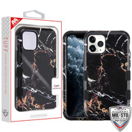 MyBat TUFF Hybrid Protector Cover [Military-Grade Certified] for Apple iPhone 11 Pro - Montmartre Marble / Black