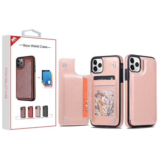 MyBat Stow Wallet Case for Apple iPhone 11 Pro - Rose Gold