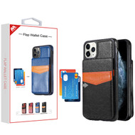 MyBat Flap Wallet Case for Apple iPhone 11 Pro - Black