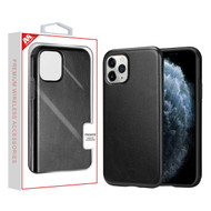 MyBat Leather Executive Protector Cover for Apple iPhone 11 Pro - Black
