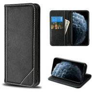 MyBat Genuine Leather MyJacket Wallet for Apple iPhone 11 Pro - Black