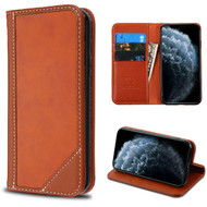 MyBat Genuine Leather MyJacket Wallet for Apple iPhone 11 Pro - Brown