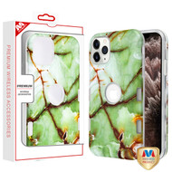 MyBat TUFF Subs Hybrid Case for Apple iPhone 11 Pro Max - Onice Verde Persiano Marble / Transparent Clear