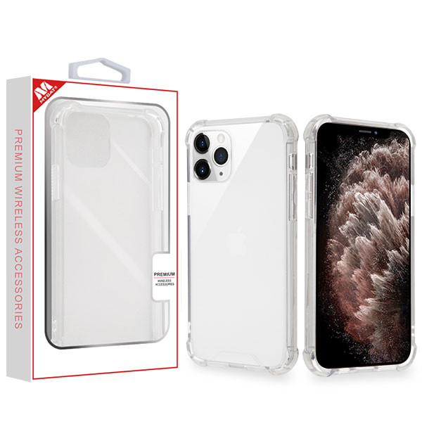 MyBat Sturdy Gummy Cover for Apple iPhone 11 Pro Max - Highly Transparent Clear / Transparent Clear