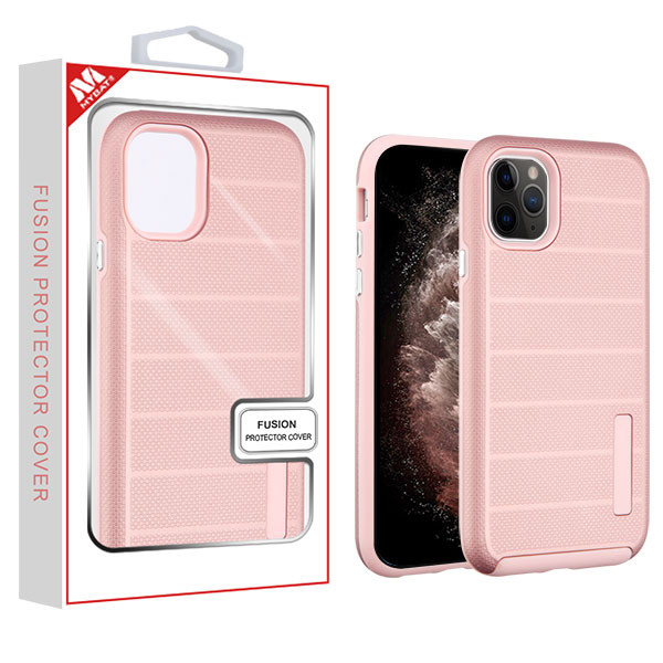 MyBat Fusion Protector Cover for Apple iPhone 11 Pro Max - Rose Gold Dots Textured / Rose Gold
