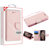 MyBat Liner MyJacket Wallet Crossgrain Series for Apple iPhone 11 Pro Max - Rose Gold Pattern / Rose Gold