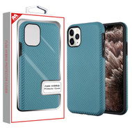 MyBat Fuse Hybrid Protector Cover for Apple iPhone 11 Pro Max - Ink Blue Carbon Fiber Texture / Black