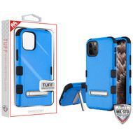 MyBat TUFF Hybrid Protector Cover (with Magnetic Metal Stand)[Military-Grade Certified] for Apple iPhone 11 Pro Max - Natural Dark Blue / Black