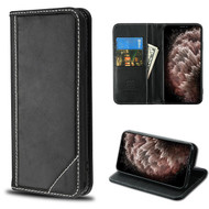 MyBat Genuine Leather MyJacket Wallet for Apple iPhone 11 Pro Max - Black
