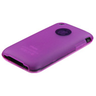 MyBat Candy Skin Cover (Rubberized) for Apple iPhone 3GS/3G - Semi Transparent Hot Pink