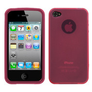 MyBat Candy Skin Cover (Rubberized) for Apple iPhone 4s/4 - Semi Transparent Pink