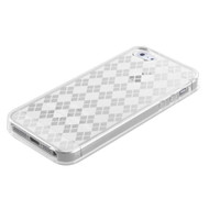 MyBat Argyle Candy Skin Cover for Apple iPhone 5s/5 - T-Clear