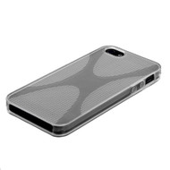 MyBat Candy Skin Cover (X Shape) for Apple iPhone 5s/5 - T-Clear