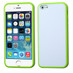 MyBat Gummy Cover for Apple iPhone 5s/5 - Solid White / Apple Green